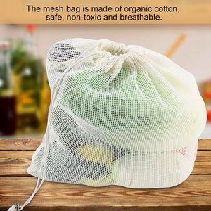 SAC DE CONSERVATION Sacs en maille de coton Sacs de filet recyclable e
