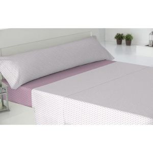 PARURE DE DRAP Parure de lit coton 90 CORCEGA REVERSIBLE ROSE