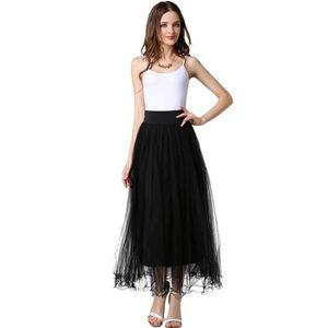 Longue Jupe Jupette Sexy Noir Femme Mode Transparent Élastique qZAPExP