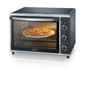 FOUR À PIZZA Mini-Four avec Chaleur Tournante, Pierre à Pizzas