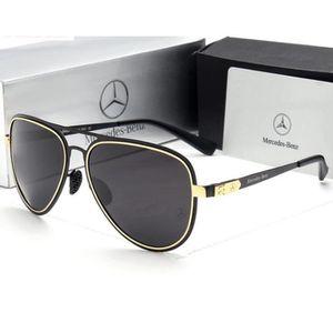 5e6020a2dd446b lunettes de Soleil Polarisées Hommes Rétro Rivet Haute Qualité Polaroid Lens  Brand Design Mercedes Benz
