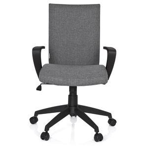 CHAISE DE BUREAU Chaise de bureau SOFT tissu gris clair hjh OFFICE