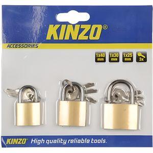 SERRURE - BARILLET KINZO Lot de 3 cadenas