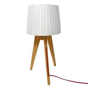 LAMPE A POSER Lampe de chevet trépied Freya bois clair