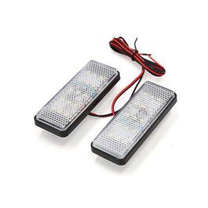 POIGNÉE DE RUCHE 2pcs blanc forme carré Clignotant LED Moto Moto 12