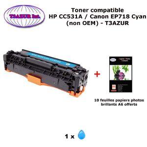 TONER Toner générique Canon EP718 Cyan pour imprimante C