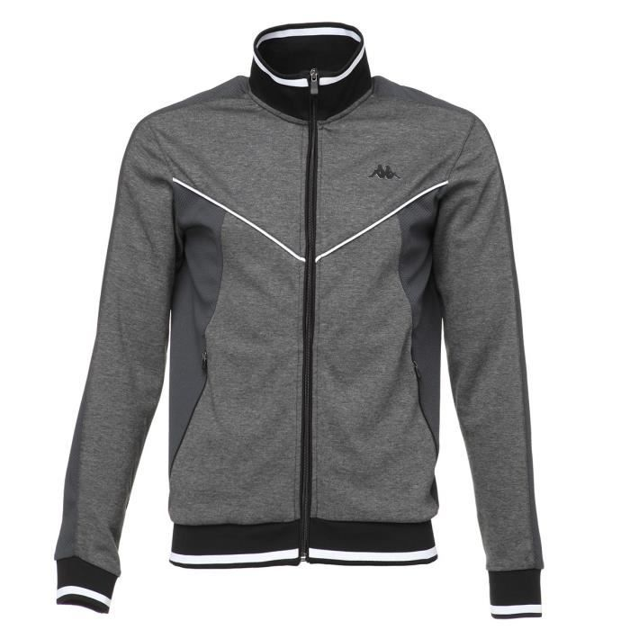 KAPPA Sweat-shirt Krivers - Homme - Gris et noir
