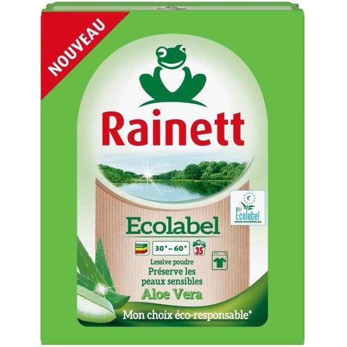RAINETT Lessive Poudre Ecolabel AlΠVera 2,345 kg -35 lavages (Lot de 3)