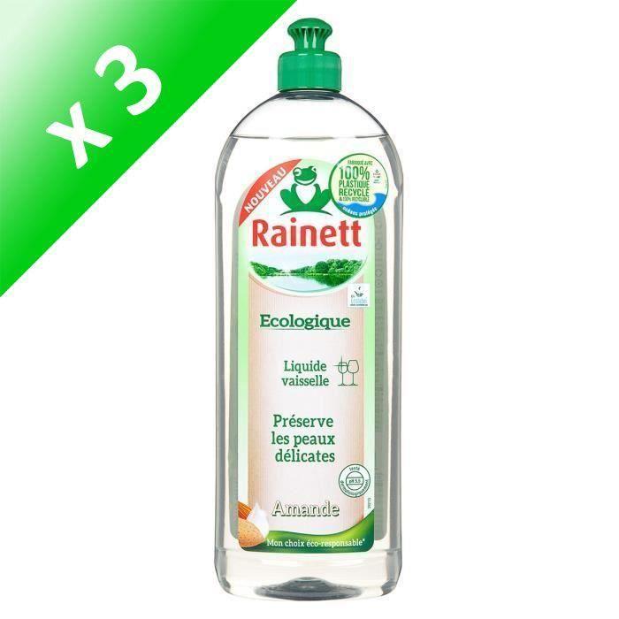 RAINETT Liquide Vaisselle Ecologique Amande 750ml (Lot de 3)