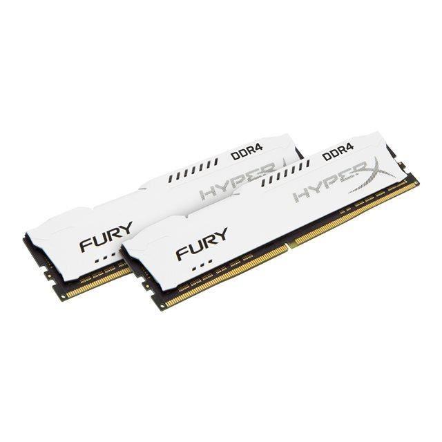 HYPERX Mémoire PC FURY White- 16Go(2x8Go) - DDR4 - 2400MHz - CL15 - DIMM