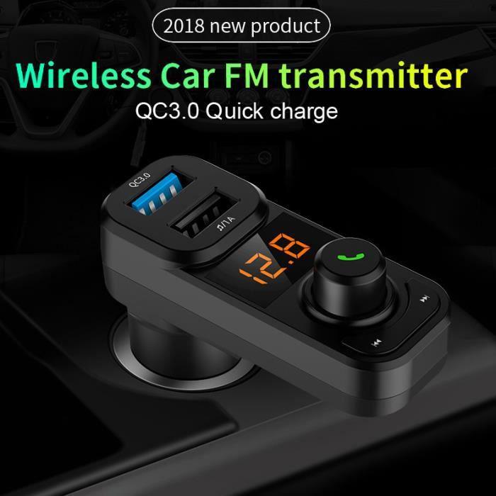Bluetooth Car Mp3 Kit Fm Transmetteur Adaptateur Radio Chargeur Sans Fil Usb Gan160