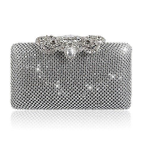 Rhinestone Sequins Glitter Clutch Evening Handbag Purse Wallet Bag For Women LME6N