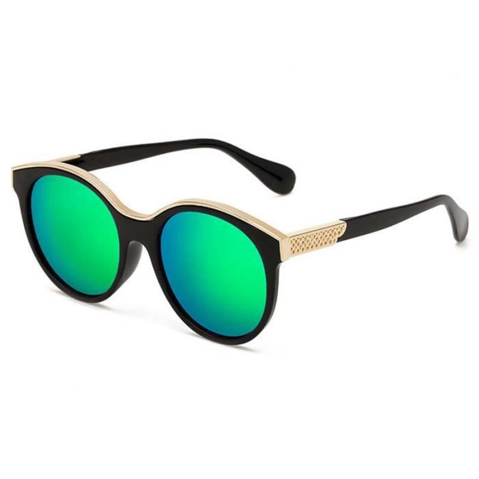 87337cc6ad8c7e Lunettes de Soleil UV400 Unisexe Homme Femme Mode Vintage Classique Lunettes  Solaires Aviator Sunglasses Verre Vert