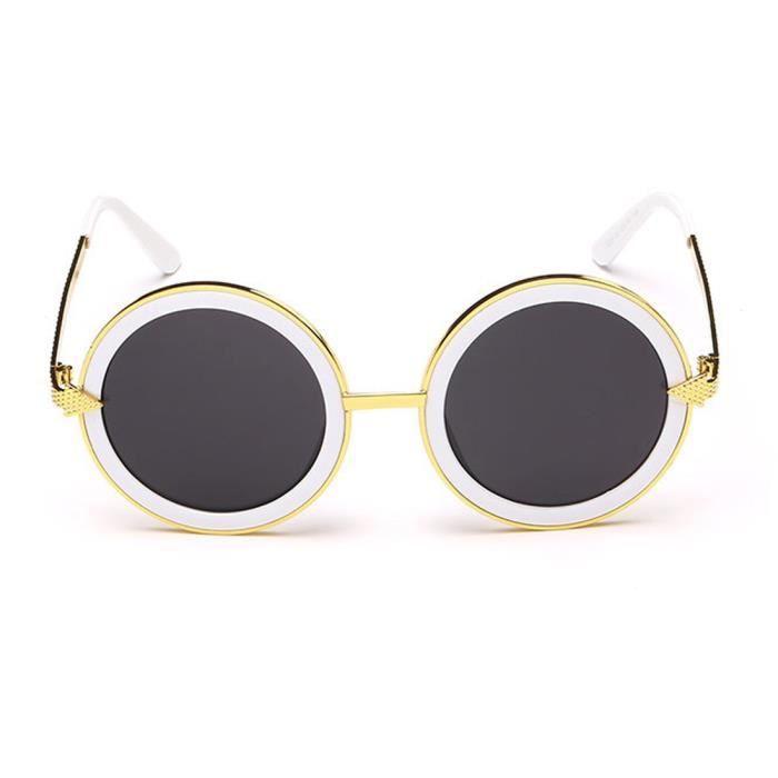 Trendy Femmes Hommes Lunettes de soleil cool Retro Vintage Frames SUNGLASSESblanc