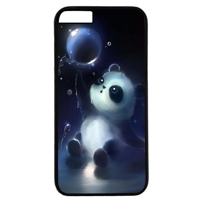 Coque Iphone 6 - Dessin panda mignon avec bulle eau - Ref