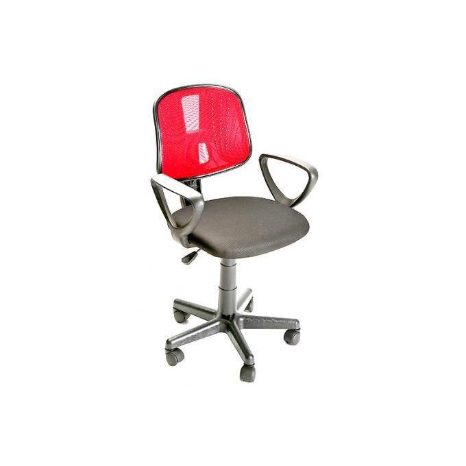 chaise de bureau à roulettes rouge