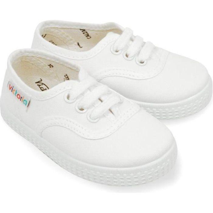 ad2786e8c661b BASKET Victoria enfant blanche en toile. Victoria enfant blanche en toile - Chaussure  enfant basse ...