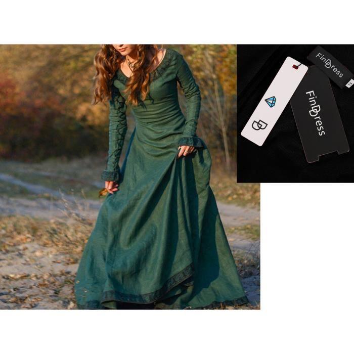 FindDress Robe Vintage Femme en robe médiévale, cosplay du costume vintage la robe de princesse gothique renaissance