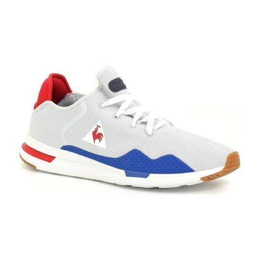 Chaussures Le Coq Sportif Solas Sport Gris Rouge Mesh Gris Gris ... 0cb443cb778d