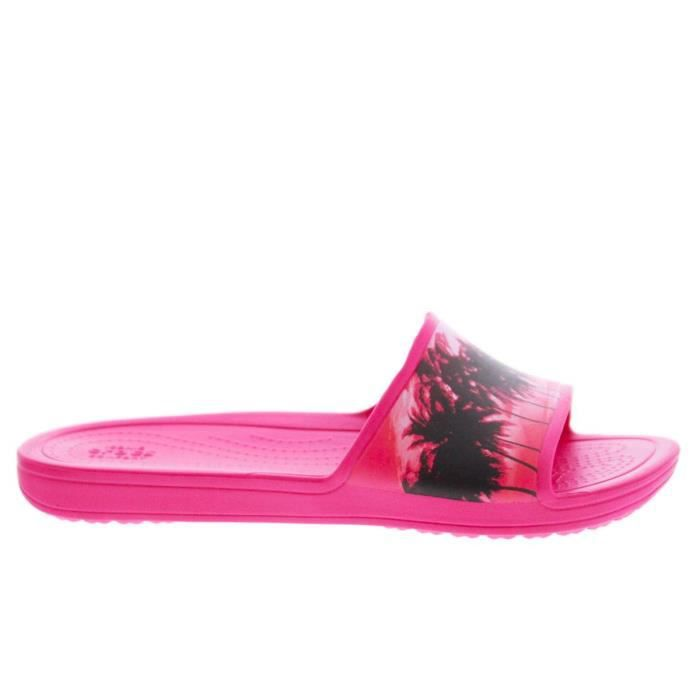 Sloane Graphic Tropical Slide Candy Pink PBwTnRP