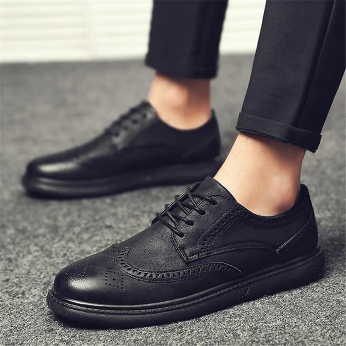 Derbies Hommes Meilleure Qualité Cuir Chaussure Rétro Chaussure Confortable Respirant Nouvelle arrivee Grande Taille 40-44 7iOR3jSN8