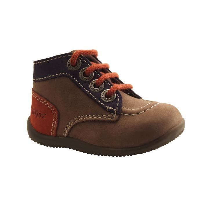 2c8c90c32b5c5 BOTTINE KICKERS E.-BONBON-BOTTILLON LACAGE-GRIS. Chaussures pour enfant ...