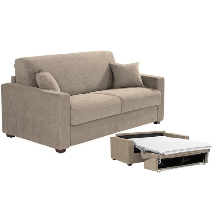 Canapé Convertible MILANO Tissu Taupe X Achat Vente Canapé - Canapé tissu taupe