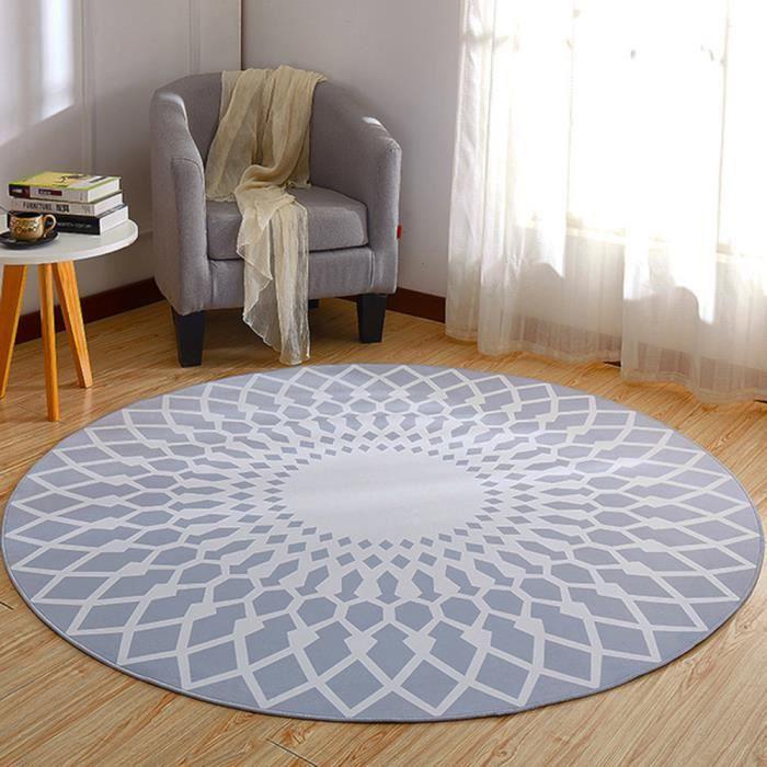 Tapis Rond Salon Chambre φ160cm Grand Tapis Simple Décoration