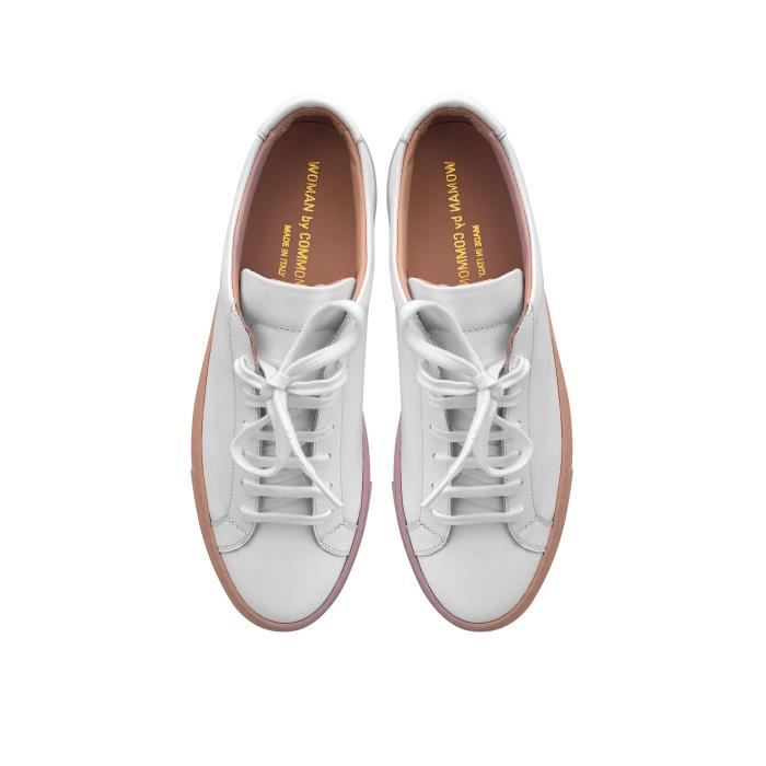 COMMON PROJECTS HOMME 20152102 BLANC CUIR BASKETS