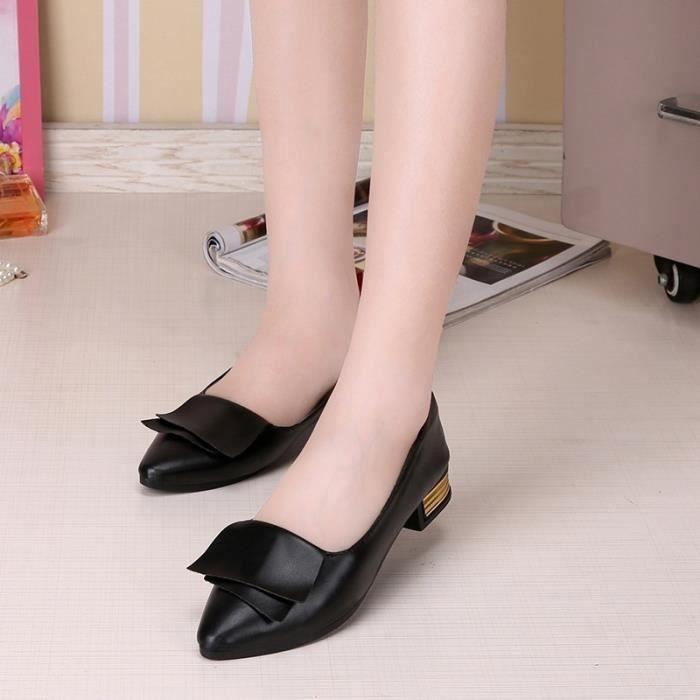 dames de la mode d'automne chaussures plates simples chaussures plates occasionnels,noir,38