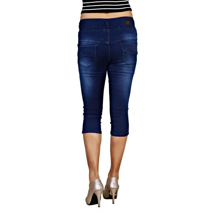Femmes Fancy Designer Silky Denim Capri Stretchable P071D Taille-32