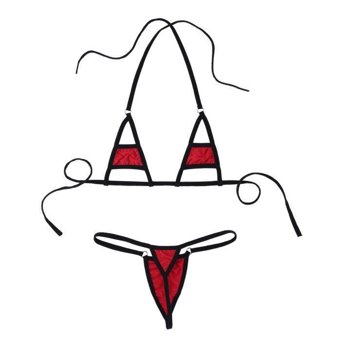 Lingerie Pieces Slip 2 Et Vêtements Bikini Plage De Bain Tanga Femme gorge Maillot Ensemble Sexy Soutien String Wn41axq