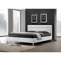 PRICE FACTORY - Lit adulte design FENIX blanc + sommier 180x200cm ...