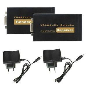 CÂBLE TV - VIDÉO - SON 1080P VGA Vidéo Audio Extender simple émetteur réc