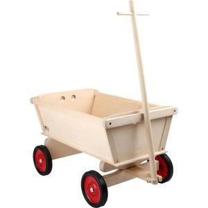 REMORQUE - CHARIOT Chariot pour enfants en bois « Nature » à tirer à