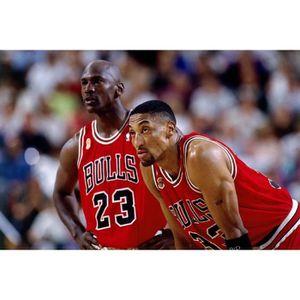 AFFICHE - POSTER ki074kk-XL Scottie Pippen Michael Jordan Basketbal