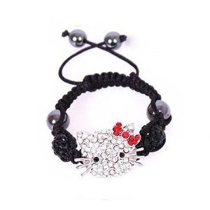 BRACELET - GOURMETTE Bracelet Shamballa Enfants Hello Kitty-Stass,Perle
