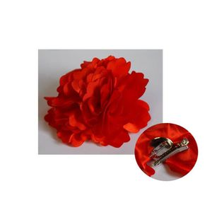 Fleur Pour Cheveux Rouge Idee D Image De Fleur