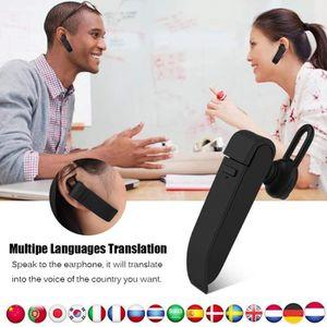 TRADUCTEUR ÉLECTRONIQUE Oreillette Traduction Écouteur Bluetooth Traducteu