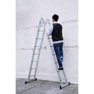 ECHELLE - ESCABEAU Finether 15.4ft Échelle Télescopique Portable Plia