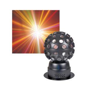 BOULE A FACETTES Boule Faisceaux 9W à LED RVB effet type Rocker KOO