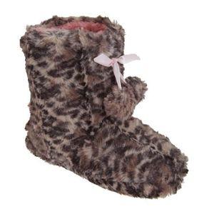 Chaussons imprimés léopard avec pompons - Fille... q26EPn0