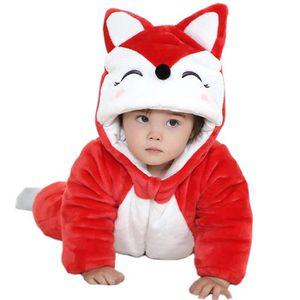 DÉGUISEMENT - PANOPLIE Unisexe Pyjama Hiver chaud renard épais Combinaiso