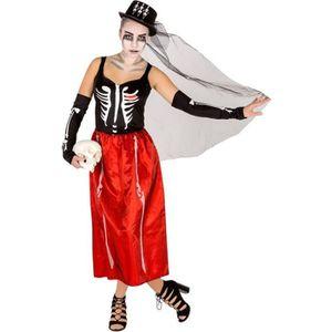 DÉGUISEMENT - PANOPLIE Déguisement d'Halloween Adulte Femme, Robe de Sque