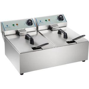 FRITEUSE ELECTRIQUE Friteuse Double Électrique Royal Catering 2X3200W