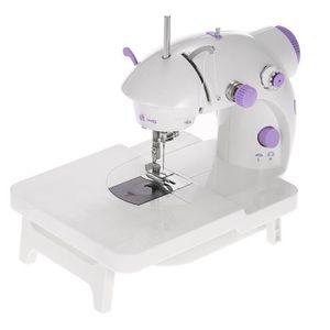 Mini Menage Machine A Coudre Electrique Extension Table Reglage 2 Vitesse Avec Pedale Lumiere Led Ac100 240v