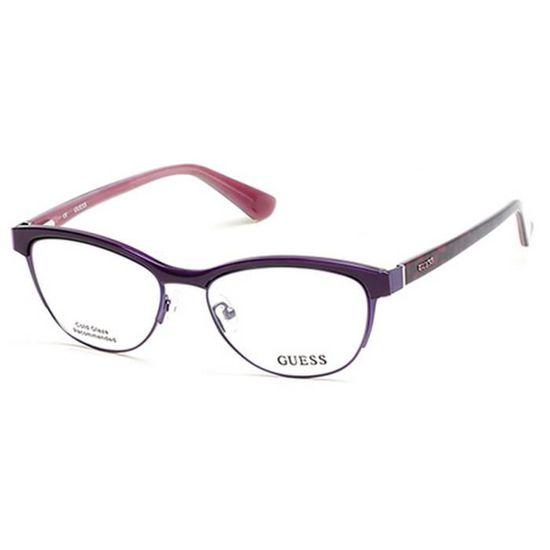 f49535df5a Lunettes de vue pour femme GUESS Violet GU 2523 083 52/16 - Achat / Vente  lunettes de vue Lunettes de vue pour femme ... - Soldes d'été Cdiscoun
