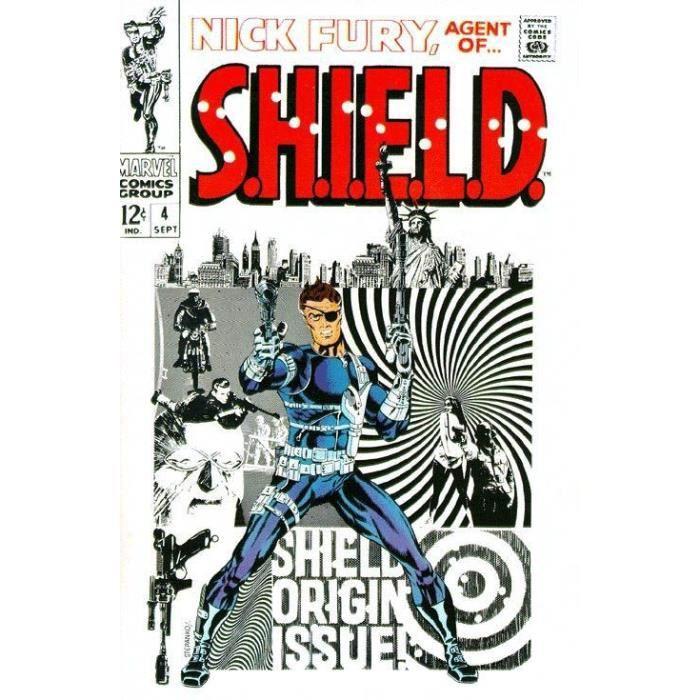 Plaque en métal brossé immortalisant les couvertures les plus mythiques des Comics Marvel.AFFICHE - POSTER