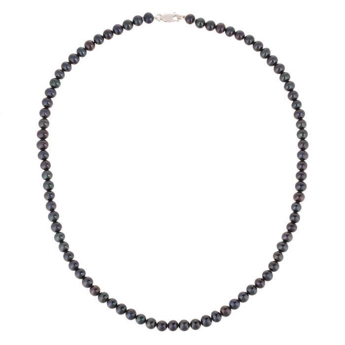 PERLINEA Collier Perles de Culture et Or Blanc 375° Femme