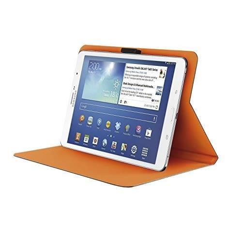 """TRUST Aeroo Étui Folio Univ pour Tablette 7/8"""" - Gris et orange"""